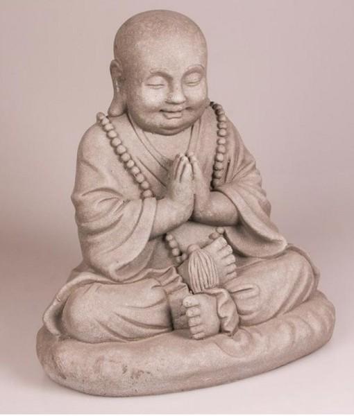 Tuinbeeld Mediterende Dikbuik Boeddha 53 cm | Boeddha-beelden.com