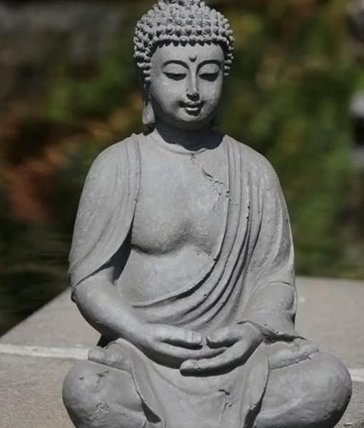 Boeddha Tuinbeeld Zittend 38cm : Boeddha-beelden.com