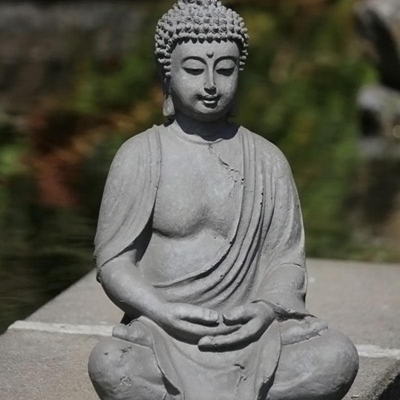 Boeddha Beelden Voor De Tuin.Boeddha Tuinbeeld Zittend 38cm Boeddha Beelden Com