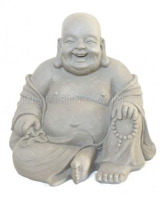 happy dikbuik boeddha fiberclay grijs 1