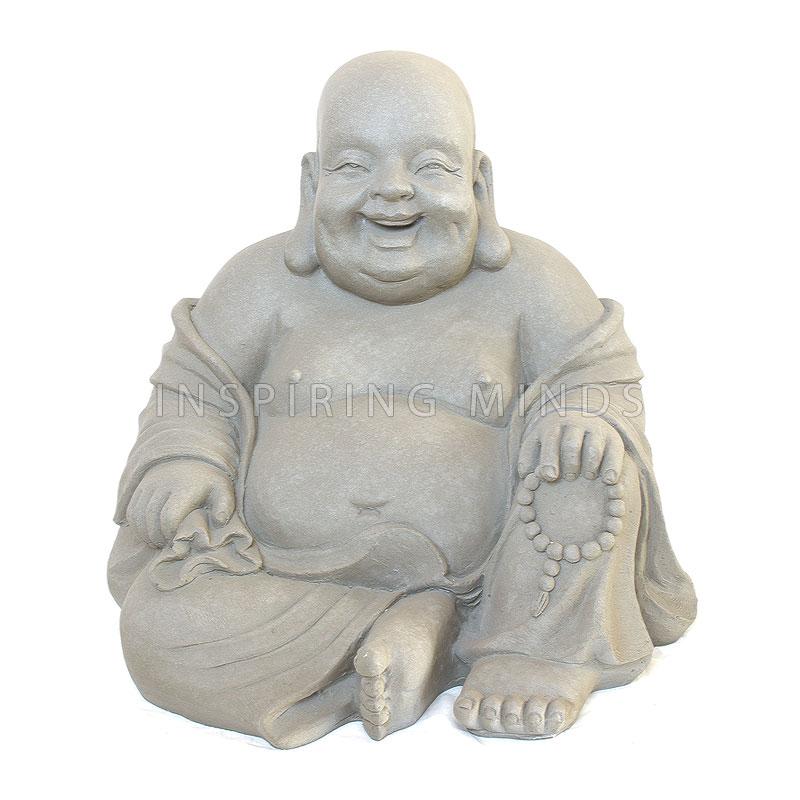 Tuinbeeld Happy Dikbuik Boeddha 60cm   Boeddha beelden com