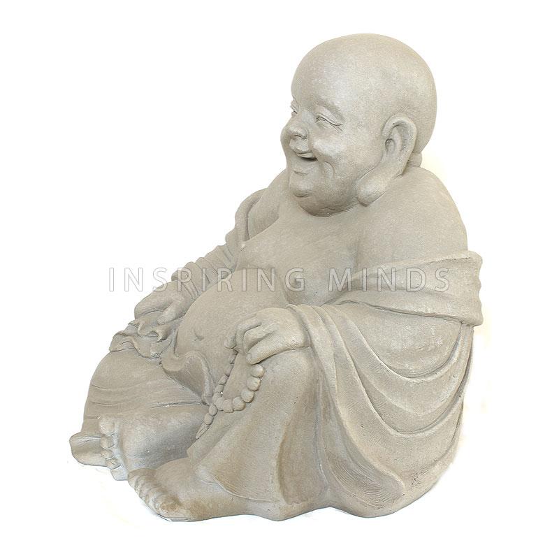 Tuinbeeld Happy Dikbuik Boeddha 60cm | Boeddha-beelden.com