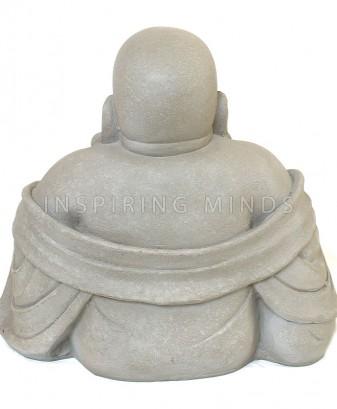 happy dikbuik boeddha fiberclay grijs 4