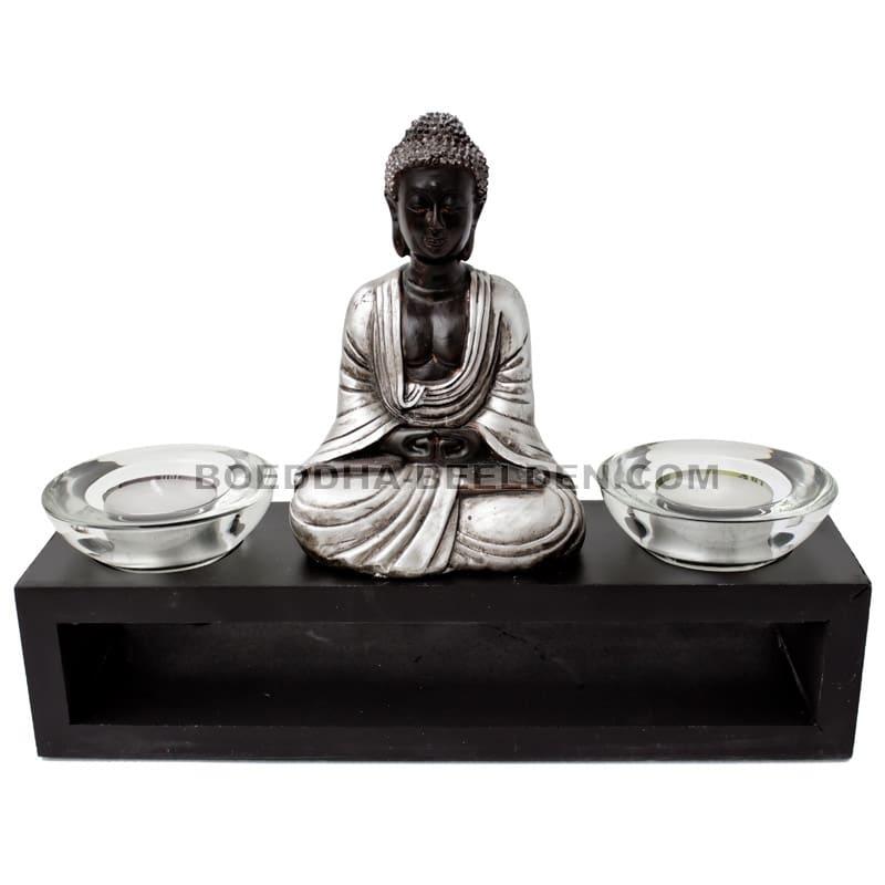 Japanse Boeddha Waxinelichthouder 26cm : Boeddha-beelden.com