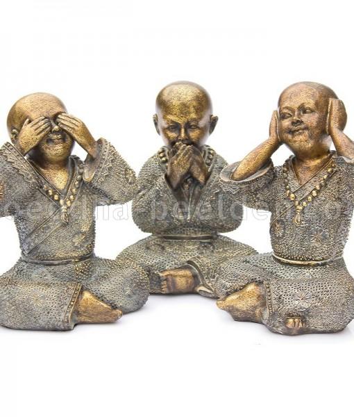 monnik horen zien zwijgen bronskleur
