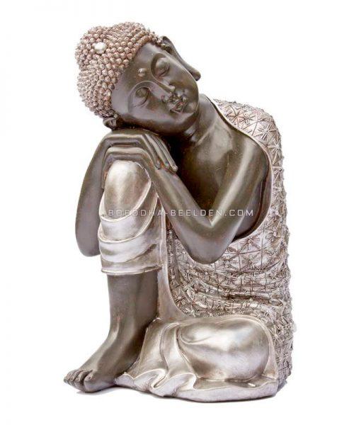 Rustende Boeddha Zwart Zilver