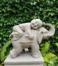 Tuinbeeld Shaolin Monnik Op Olifant 45 cm
