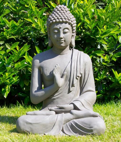 boeddha gerechtigheid 75cm grijs buiten 1
