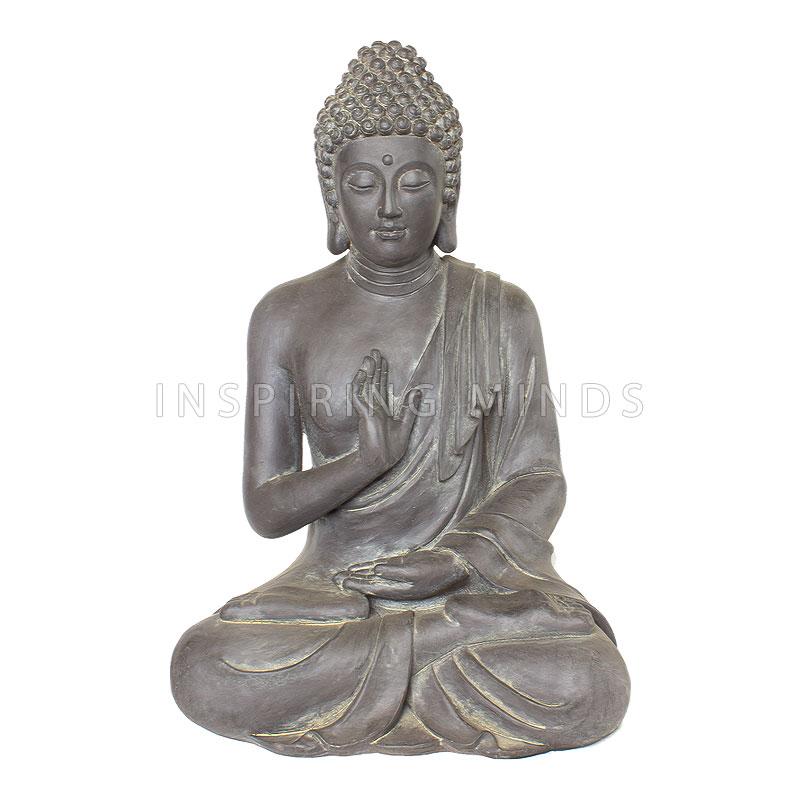 Boeddha Gerechtigheid 73cm Donkergrijs