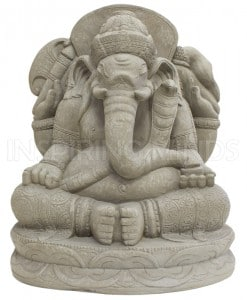 Ganesha tuinbeeld grijs 1