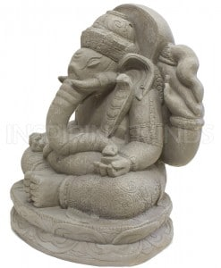 Ganesha tuinbeeld grijs 2