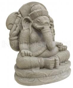 Ganesha tuinbeeld grijs 3