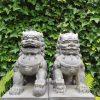 Tuinbeeld Tempelleeuw Set van 2