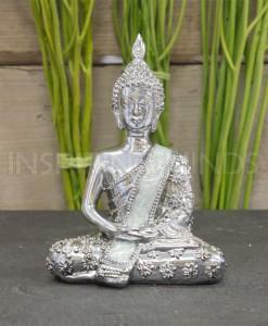 Zilver Boeddha Lotus 13cm 1