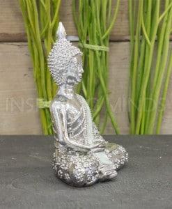 Zilver Boeddha Lotus 13cm 2