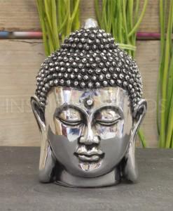boeddha hoofd 12cm zilver 1