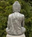 Boeddha Tuinbeeld Zittend 75cm Antiek Zilver 4