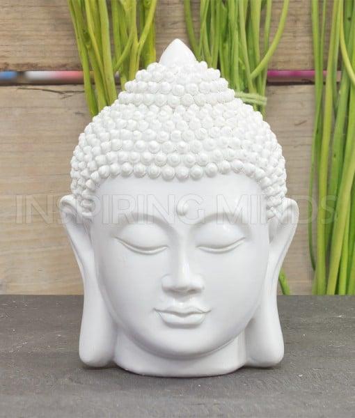hoofd boeddha 12cm wit 1