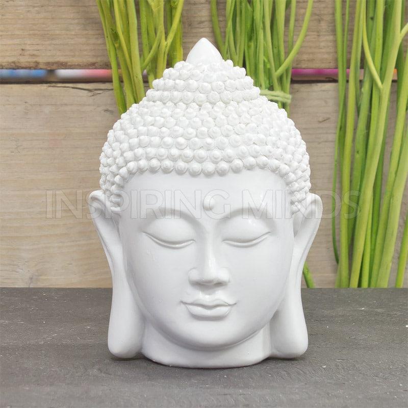 boeddha hoofd 12cm wit boeddhabeeldencom