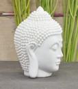 hoofd boeddha 12cm wit 2