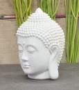hoofd boeddha 12cm wit 3
