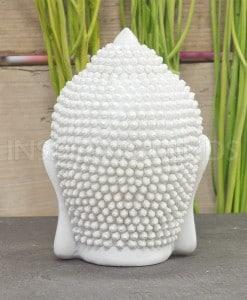 hoofd boeddha 12cm wit 4