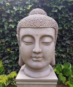 Japans Boeddha Hoofd XL 70cm Binnen Buiten