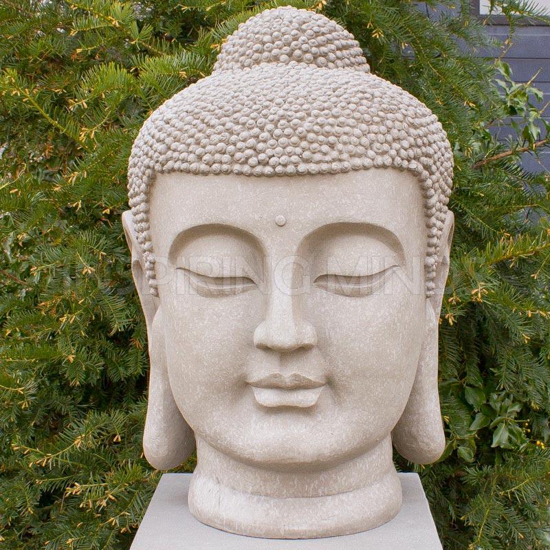 Boeddha Beelden Voor De Tuin.Japans Boeddha Hoofd Xl 70cm Binnen Buiten Boeddha Beelden Com