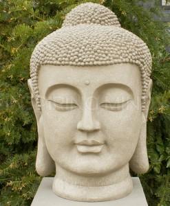 Japans Boeddha Hoofd Tuinbeeld 70cm 1