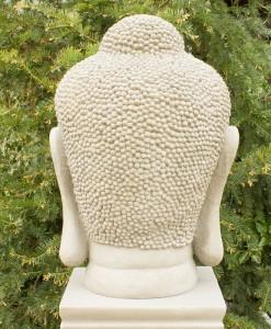 Japans Boeddha Hoofd Tuinbeeld 70cm 4
