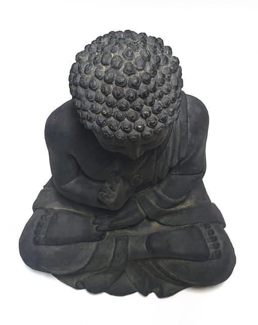 G817L-DG-Tuinbeeld-Boeddha-gerechtigheid-bovenzijde-wit