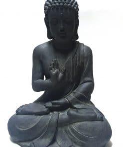 groot-zittende-boeddha-donker grijs