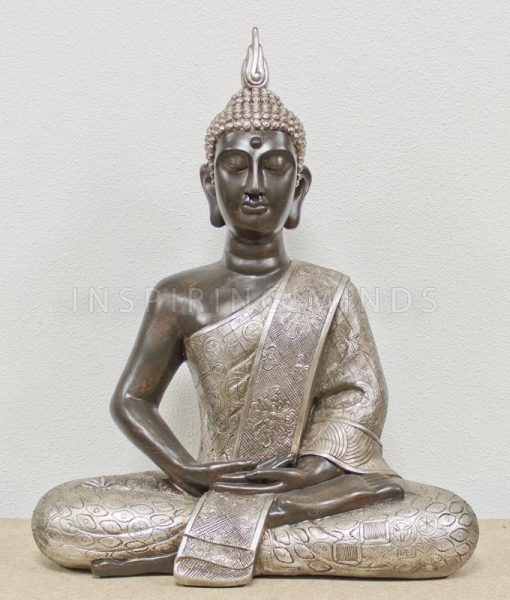 thaise-boeddha-xl-62cm-zwart-zilver-1