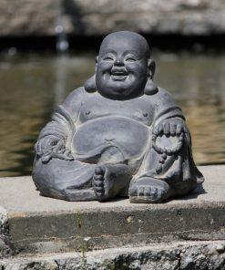 happy-boeddha-tuinbeeld-zwart