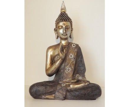Boeddha zittend antiek brons
