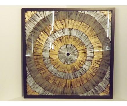Foto Op Wanddecoratie.Wanddecoratie Zilver En Gouden Cirkels Boeddha Beelden Com