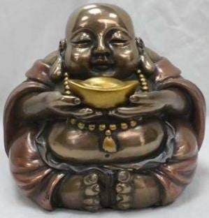 Happy Boeddha met Goudschaal