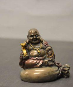 Happy boeddha op goudzak