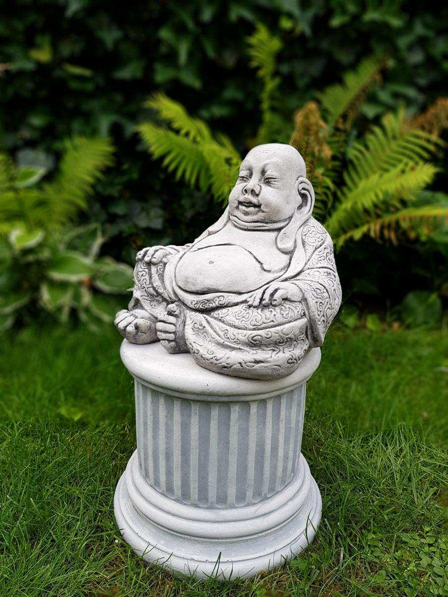 Boeddha Beeld Beton.Boeddha Dikbuik Beton