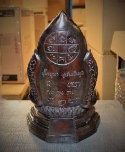 Boeddha decoratie zittend achterkant