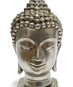 Boeddha-hoofd-X0771-Chiang-San-Zilver-voorzijde