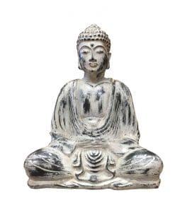 Boeddha lotushouding antiek wit