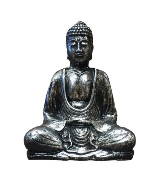 Boeddha lotushouding antiek zilver