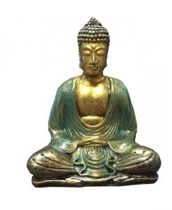 Boeddha lotushouding goud groen