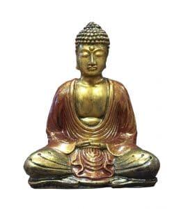 Boeddha lotushouding goud rood