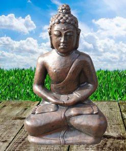 Boeddha zit beton