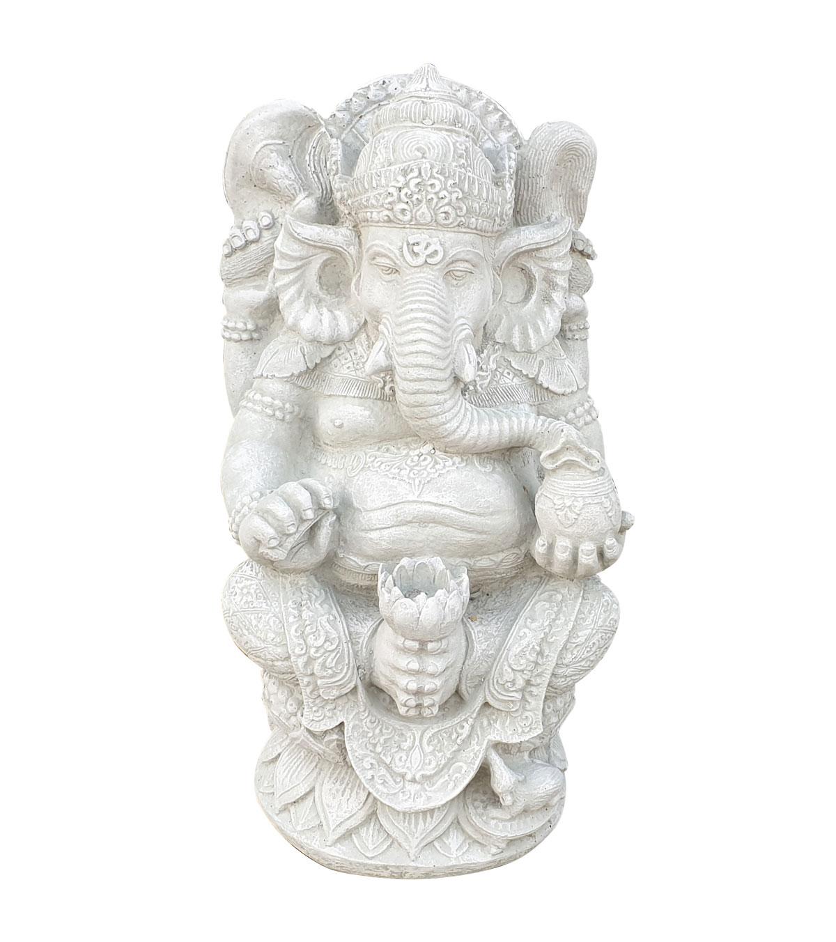 Boeddha Beeld Beton.Ganesha Beton