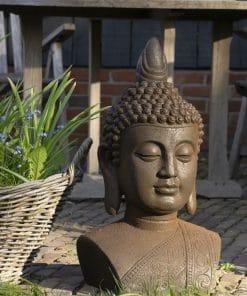 Thaise Boeddhahoofd tuinbeeld