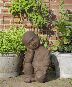 Slapende-Shaolin-monnik-beeld