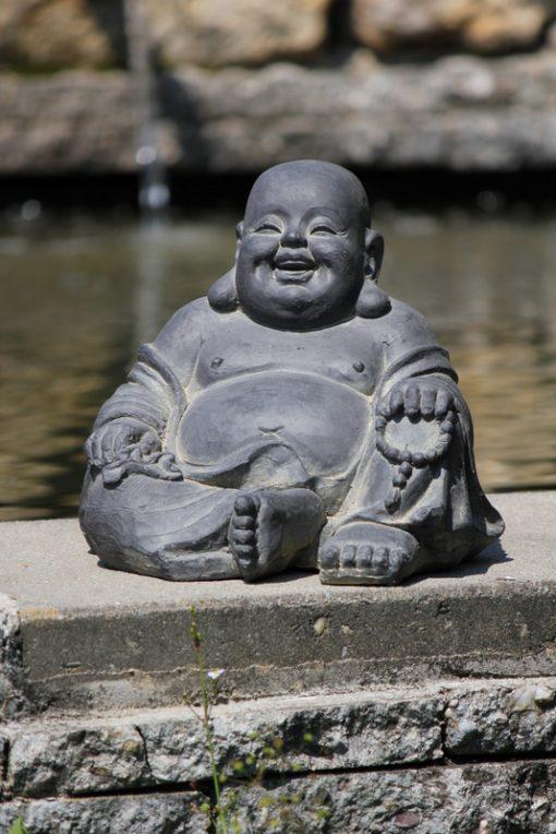 happy boeddha beeld voor binnen en buiten